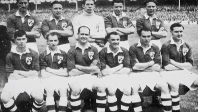 'Eleven men from Éire upset the white shirts of England'