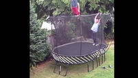 VIDEO: Young boy amazingly saved by trampoline net
