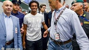 Cuadrado arrives in Italy for Juventus medical