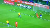 Watch Brazil win despite David Luiz's dire defending