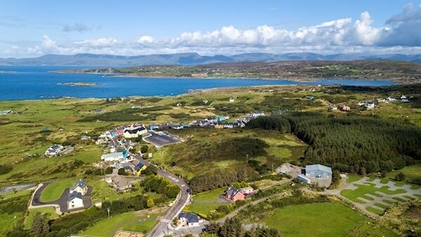 A drone picture of the beautiful West Cork Village of Eyeries on the North West tip of the Beara peninsula. Picture Dan Linehan