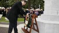 Irish soldiers honoured at Armistice Day commemorations