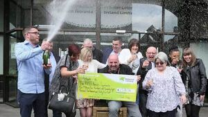 12-strong Lotto syndicate from Bausch & Lomb collect €2.5m winnings