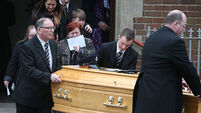 Mourners at funeral of murdered prison officer urged to reject 'dark deeds'