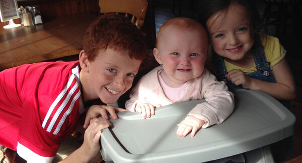 Lexi with brother Dylan and baby sister Ali.