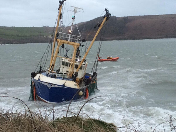A picture of the trawler at centre of this evening's Kinsale RNLI rescue.