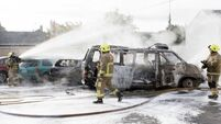 Lucky escape for motorist as van bursts into flames in Clare
