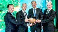 Apple CEO Tim Cook receives IDA Ireland Special Recognition Award from Taoiseach