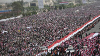 Hundreds of thousands march in Yemen in support of rebels