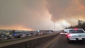 80,000 people evacuated from Canadian city as wildfire rages on
