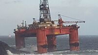 Fuel tanks 'breached' on oil rig run aground on Scottish island