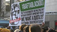 Protest held outside Baftas over lack of diversity in movie industry