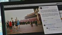 Mark Zuckerberg draws online ridicule after taking a run in Beijing's smog