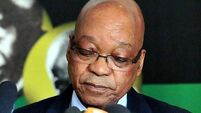 Protestors call for scandal-hit South African president Jacob Zuma to resign