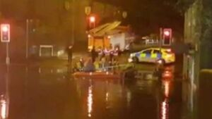 Floods and high winds from Storm Angus brings chaos to the UK