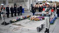French President marks Armistice Day at Arc de Triomphe