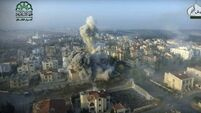Syrian troops launch counter-offensive amid airstrikes in Aleppo
