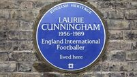 Blue plaque honouring Laurie Cunningham
