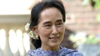 Burma's Suu Kyi suffering from exhaustion after trip to UK and US