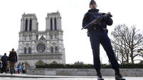 Car with gas cylinders found by Notre Dame Cathedral in Paris