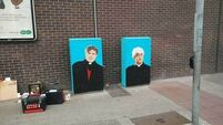 Father Ted and Father Dougal are now brightening up Dubliners' commute