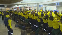 South African firefighters thrill locals with beautiful song as they arrive to tackle Canadian wildfires