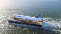 Incredible drone footage shows off jumbo jet's sea voyage up the west coast of Ireland