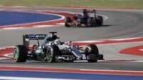 Lewis Hamilton was punching the air at qualifying in the US Grand Priz
