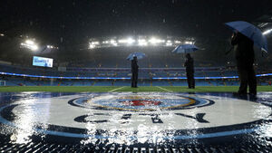 This dramatic thunderstorm was why Man City's Champions League game was called off