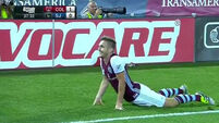 Kevin Doyle gets one over Robbie Keane as Colorado knock LA Galaxy out of MLS Cup