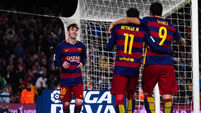 Barca snatch win thanks to injury time Messi penalty