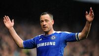 John Terry ruled out of Chelsea's FA Cup tie against Manchester City