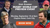 Irish Examiner special Rugby World Cup 2019 preview event