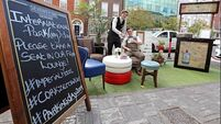Cork city parking spaces transformed into pop-up parks