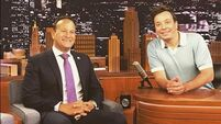 Varadkar meets Tonight Show host and 'absolute gentleman' Jimmy Fallon in New York