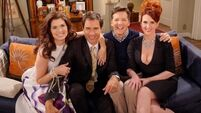 The cast of Will and Grace film reunion episode for one special reason