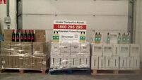 Revenue officers seize nearly 800 litres of wine at Dublin Port