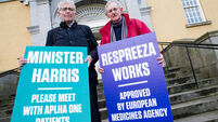 Protesters want HSE to fund life-transforming emphysema drug Respreeza