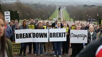 Anti-Brexit campaigners march on Stormont amid concerns of 'hard' border