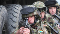 130 Irish troops make final preparations before deploying to Golan Heights