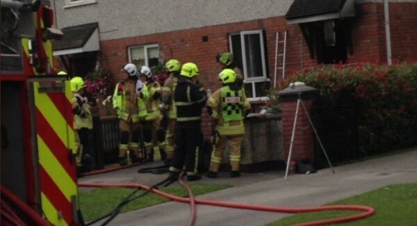 Firefighters and emergency services at the scene in Kildare. Picture: Emergency Services via Twitter.