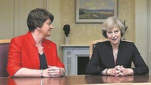 Arlene Foster 'hopeful' of deal with Tories as she returns to London for talks