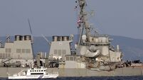 Bodies found in search of US destroyer damaged in collision