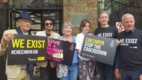 Ian McKellen joins Russian embassy protest in London over Chechnya gay men 'purge'