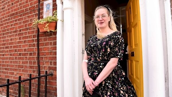 Nicole Curtis, from Ardnacrusha, Co Clare, who gave birth four weeks ago in the Rotunda Hospital. Her daughter, Willow, has been in the neonatal intensive care unit since her arrival, and Nicole and her partner have been staying in Hugh's House, which provides accommodation 365 days a year to the families of children who are long-term in-patients in the maternity and children's hospitals and live outside the Dublin area. Picture: Moya Nolan