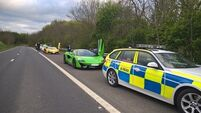 Police seize supercars racing on major British motorway