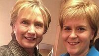 'Fangirl' Nicola Sturgeon meets Hillary Clinton at New York women's event