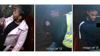 Police release pictures of three wanted over attack on teenage asylum seeker