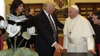 Donald Trump gives books from Martin Luther King to Pope Francis during meeting