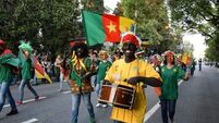 This is how a govt-backed parade in Russia represented Cameroon at a Confederations Cup parade